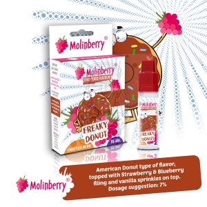 Freaky Donut 15ml Molinberry Pack