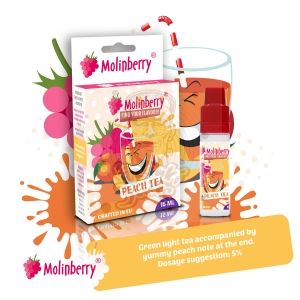 Peach Tea 15ml Molinberry pack