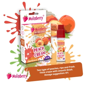 Peach Cream 15ml Molinberry Pack