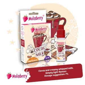 Cocoa Milk 15ml Molinberry Pack